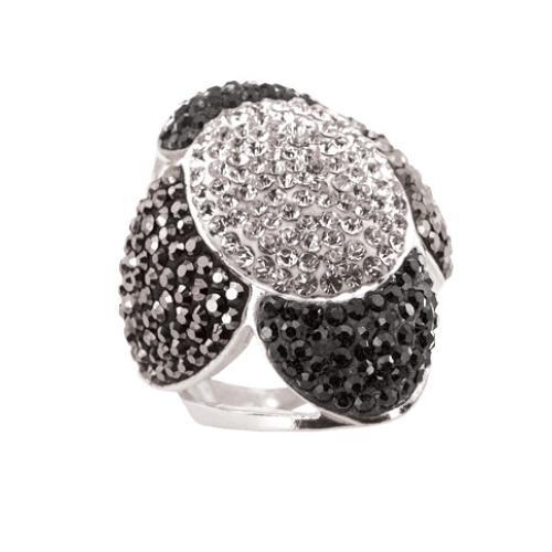 Сребърен пръстен с кристали от Swarovski®  SP660
