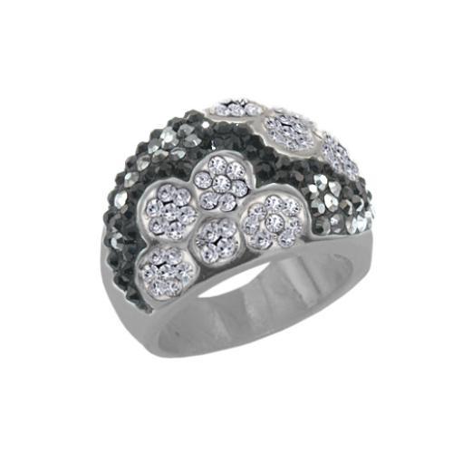 Сребърен пръстен с кристали от Swarovski®  SP664
