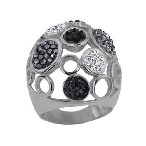 Сребърен пръстен с кристали от Swarovski®  SP666