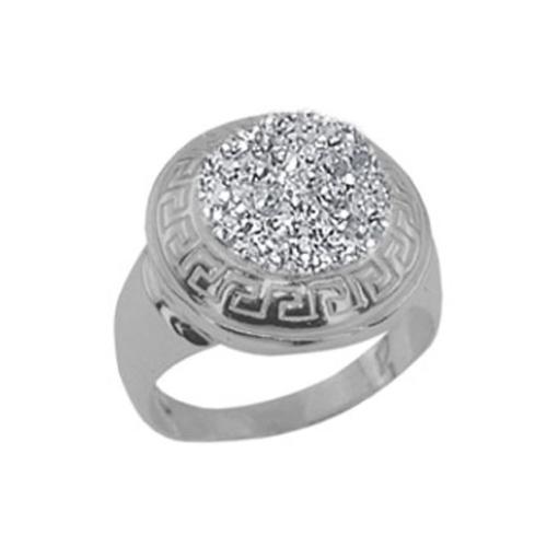Сребърен пръстен с кристали от Swarovski®  SP667