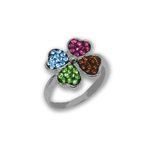Сребърен пръстен с кристали от Swarovski®  SP670