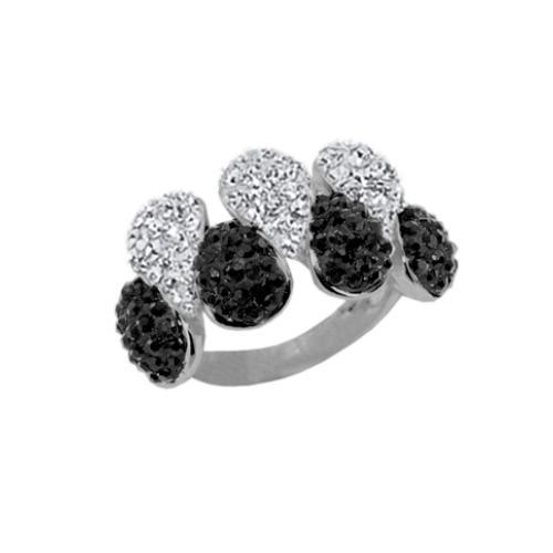 Сребърен пръстен с кристали от Swarovski®  SP671