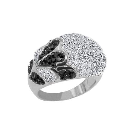 Сребърен пръстен с кристали от Swarovski®  SP672