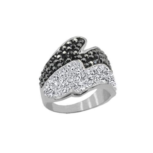 Сребърен пръстен с кристали от Swarovski®  SP674