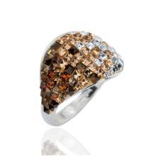 Сребърен пръстен с кристали от Swarovski®  SP677 Color Drops