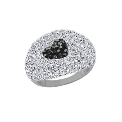 Сребърен пръстен с кристали от Swarovski®  SP678