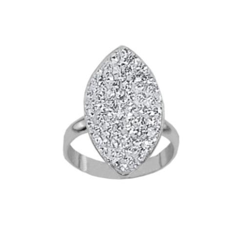 Сребърен пръстен с кристали от Swarovski®  SP679