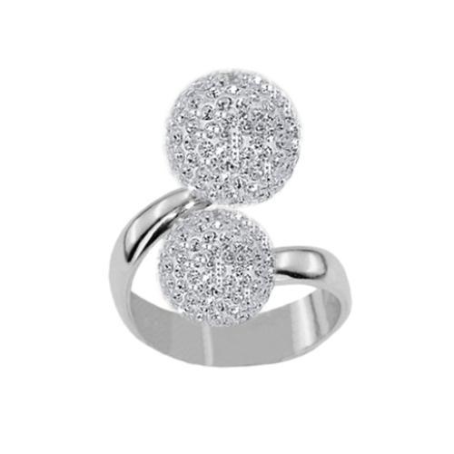 Сребърен пръстен с кристали от Swarovski®  SP682 Crystal