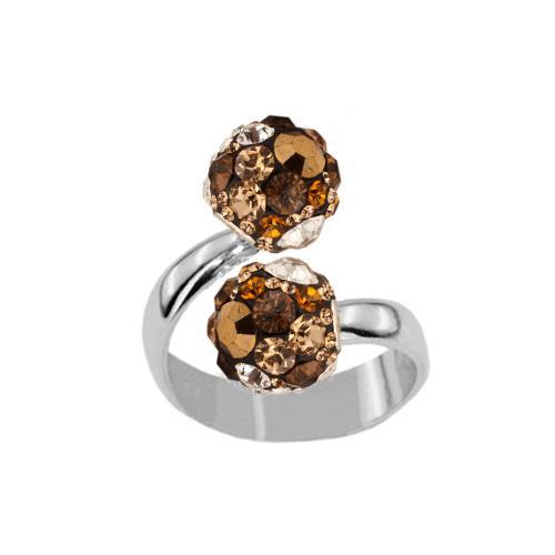 Сребърен пръстен с кристали от Swarovski®  SP682 Monte Carlo