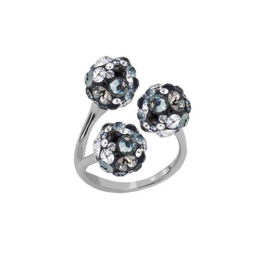 Сребърен пръстен с кристали от Swarovski®  SP683 Late Night
