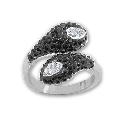 Сребърен пръстен с кристали от Swarovski®  SP686