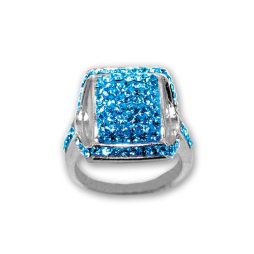 Сребърен пръстен с кристали от Swarovski®  SP687