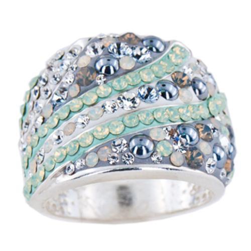 Сребърен пръстен с кристали от Swarovski®  SP688