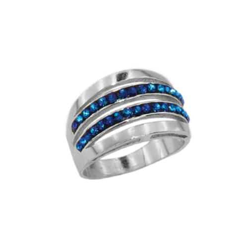 Сребърен пръстен с кристали от Swarovski®  SP690