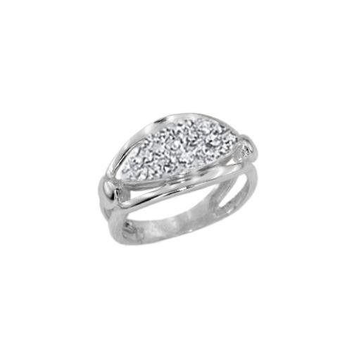Сребърен пръстен с кристали от Swarovski®  SP691