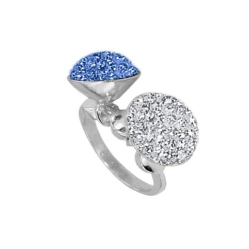 Сребърен пръстен с кристали от Swarovski®  SP692