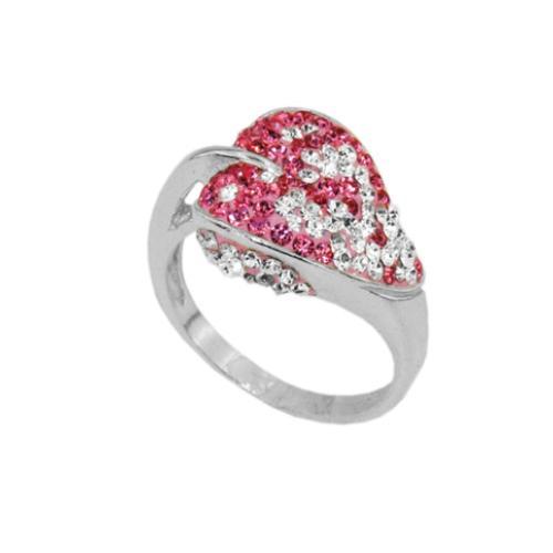 Сребърен пръстен с кристали от Swarovski®  SP694