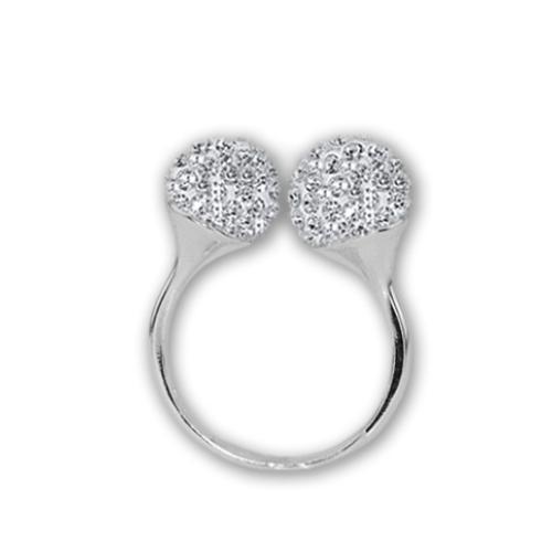 Сребърен пръстен с кристали от Swarovski®  SP695