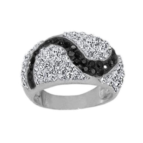Сребърен пръстен с кристали от Swarovski®  SP696