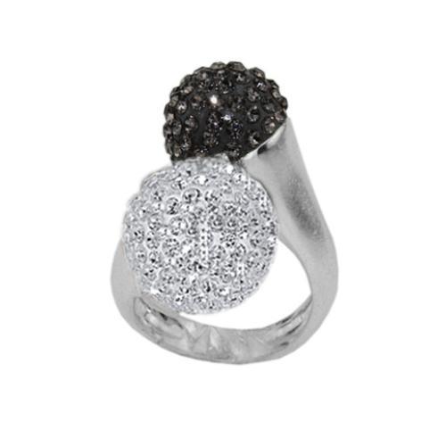 Сребърен пръстен с кристали от Swarovski®  SP697