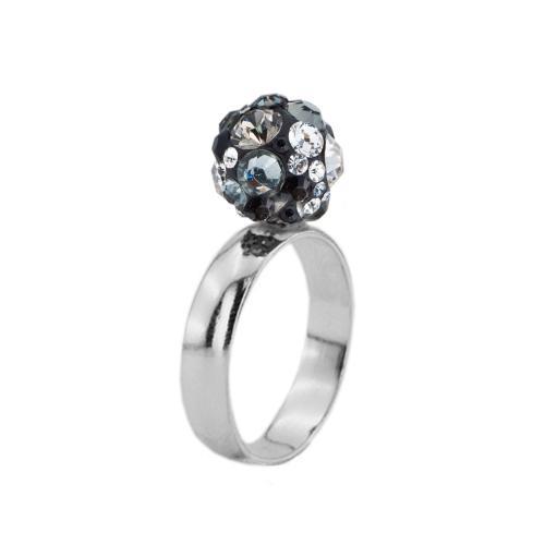 Сребърен пръстен с кристали от Swarovski®  SP698 Late Night