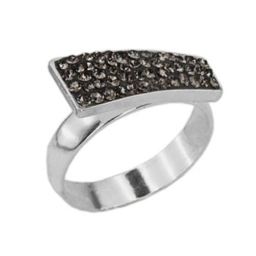 Сребърен пръстен с кристали от Swarovski®  SP699 Black Diamond