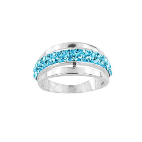 Сребърен пръстен с кристали от Swarovski®  SP703