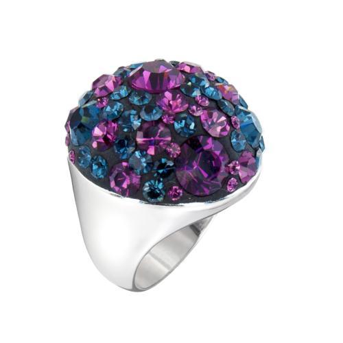 Сребърен пръстен с кристали от Swarovski®  SP704 Amethyst and Montana