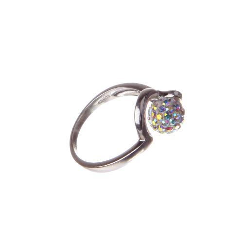Сребърен пръстен с кристали от Swarovski®  SP706 AB Crystal