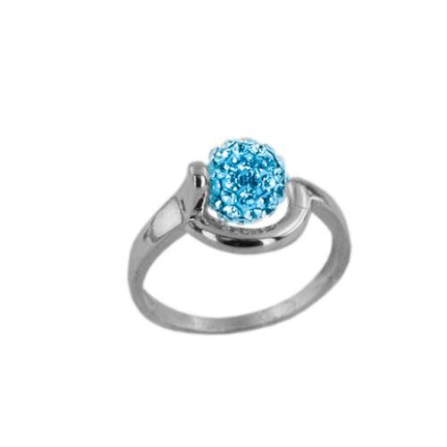 Сребърен пръстен с кристали от Swarovski®  SP706 Aquamarine