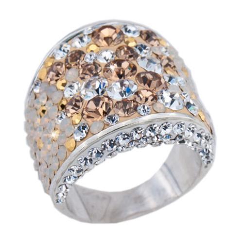Сребърен пръстен с кристали от Swarovski®  SP710 Vintage