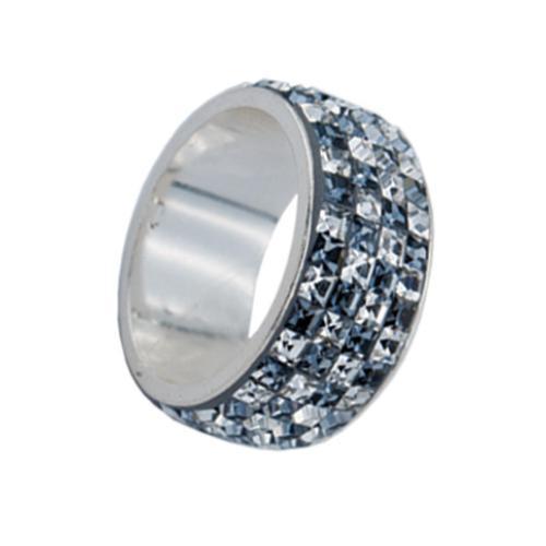 Сребърен пръстен с кристали от Swarovski® SP712 Steel and Crystal Квадрати