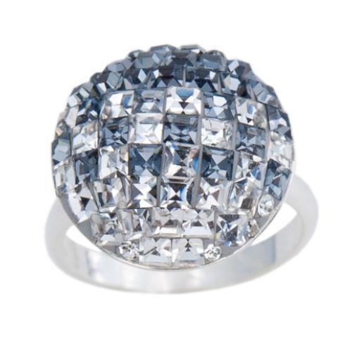 Сребърен пръстен с кристали от Swarovski®  SP717 Steel and Crystal Квадрати