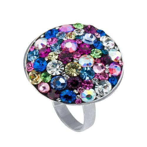 Сребърен пръстен с бели кристали от Swarovski® SP600 Multicolor