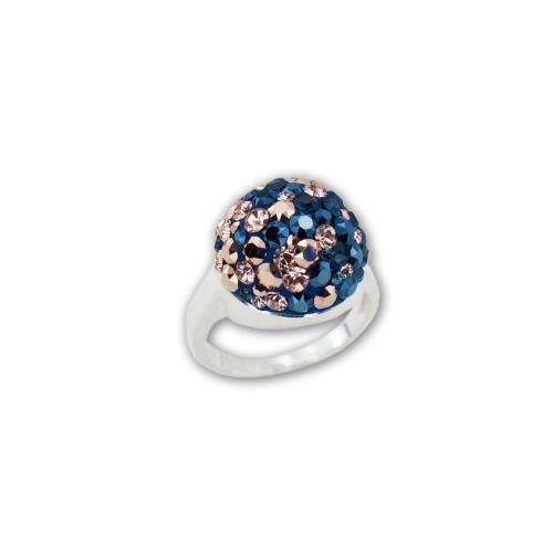 Сребърен Пръстен С Кристали От Swarovski® SP602 Metallic Rose Gold