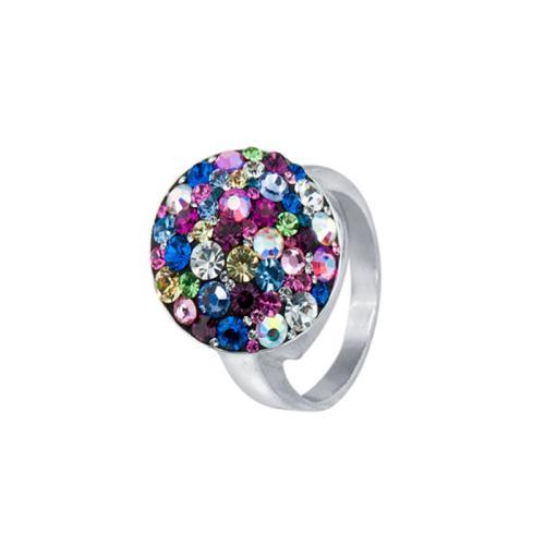 Сребърен Пръстен С Кристали От Swarovski® SP602 Multicolor