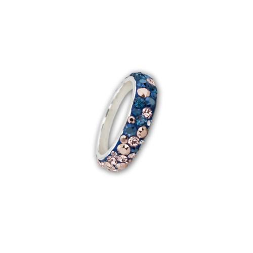 Сребърен Пръстен С Кристали От Swarovski® SP613 Metallic Rose Gold