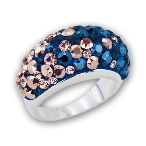Сребърен Пръстен С Кристали От Swarovski® SP653 Metallic Rose Gold