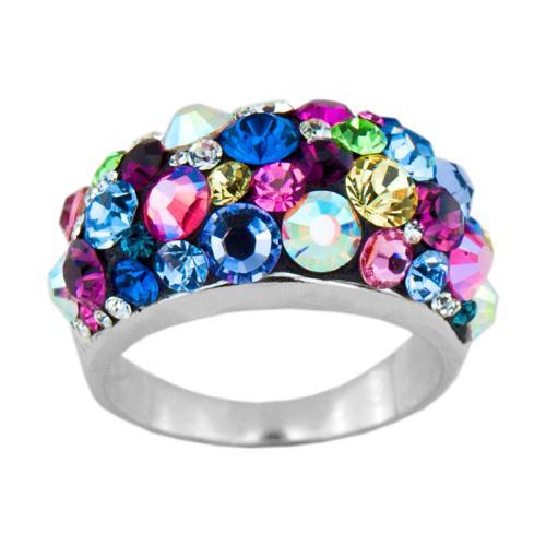 Сребърен Пръстен С Кристали От Swarovski® SP653 Multicolor