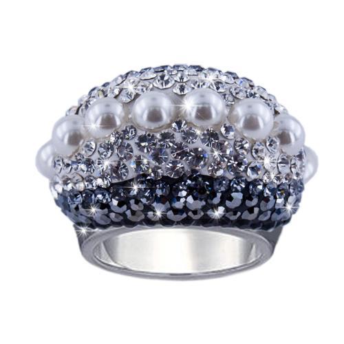 Сребърен пръстен с кристали от Swarovski® SP654 Big Pearl