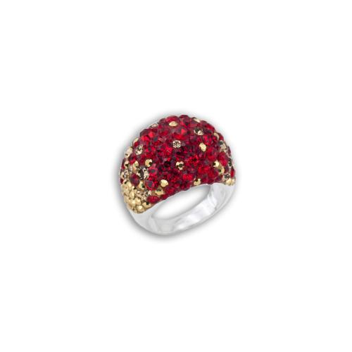 Сребърен пръстен с кристали от Swarovski® SP654 Golden Red