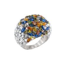 Сребърен пръстен с кристали от Swarovski®  SP654 Silver Shade