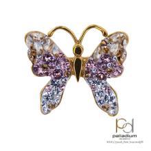 Сребърен пръстен с кристали от Swarovski®  SP680 Colorado Rose Gold с позлатка 24 кт
