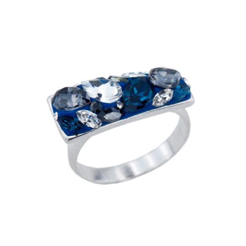 Сребърен пръстен с кристали от Swarovski®  SP699 Royal
