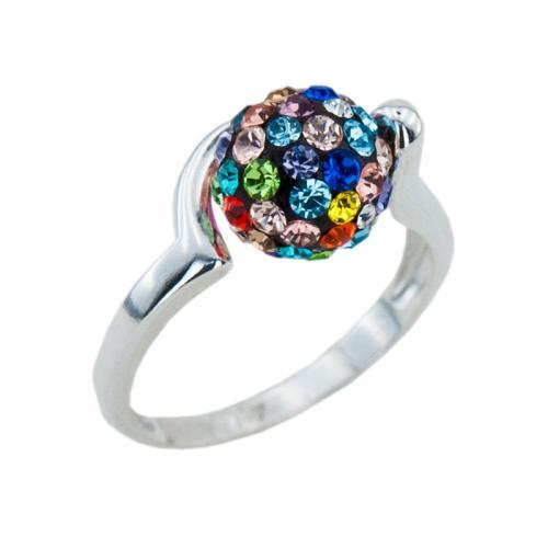 Сребърен Пръстен С Кристали От Swarovski® SP706 Multicolor