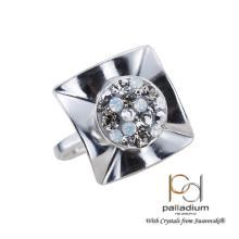Сребърен пръстен с кристали от Swarovski® SP713 AB Crystal