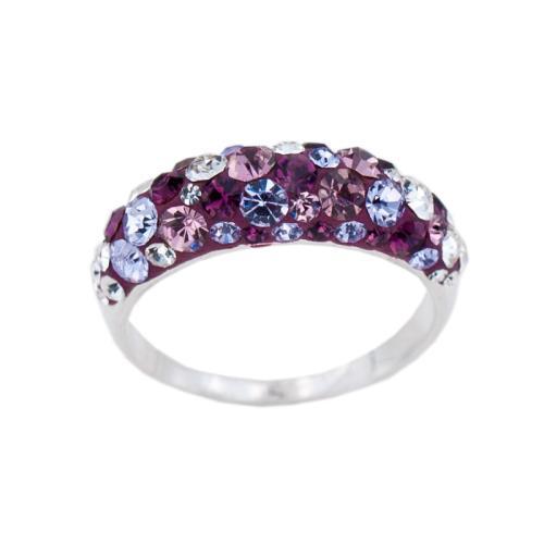 Сребърен пръстен с кристали от Swarovski® SP718 Blush Rose