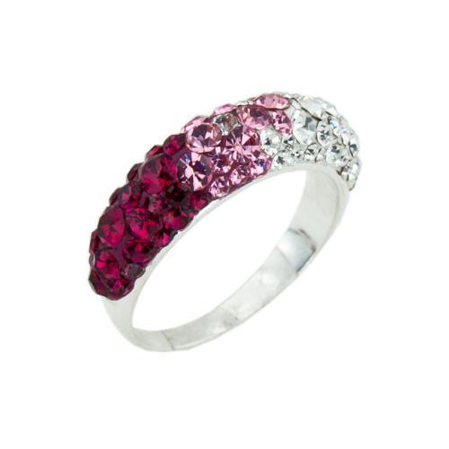 Сребърен пръстен с кристали от Swarovski® SP718 Bold Rose