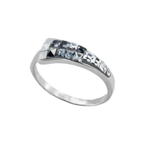 Сребърен Пръстен С Кристали От Swarovski® SP722 Steel and Crystal Квадрати