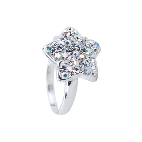 Сребърен пръстен Мерилин с кристали SP724 Crystal и AB Crystal